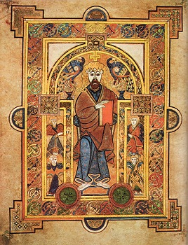 A page from the Book of Kells saved from destruction.