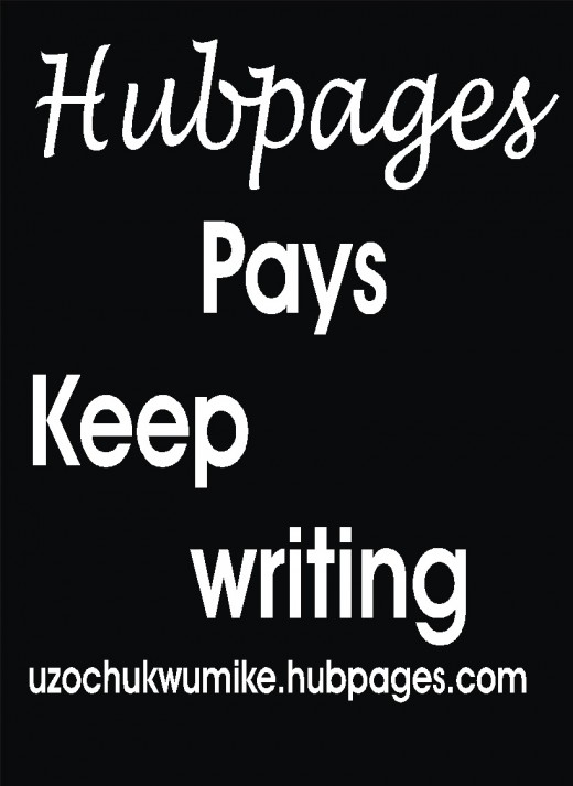 An illustration on hubpages payment by the author.