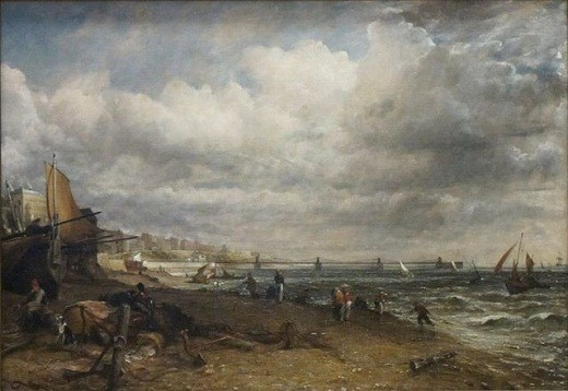 Chain Pier, Brighton by John Constable (1776-1837) - Oil on Canvas