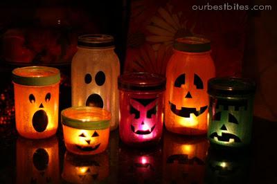 Halloween Lantern Jars :)