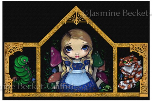 """""""Alice and Friends"""" by Jasmine Becket-Griffith"""
