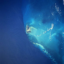 Satellite image, North Bimini Island