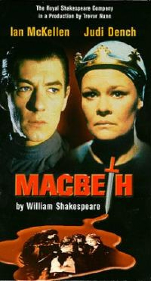 The original cover for the video recording of the 1978 Macbeth directed by Trevor Nunn