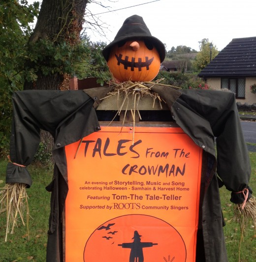 He might not have any teeth to speak of, but this pumpkin scarecrow might make you shiver on a dark night!