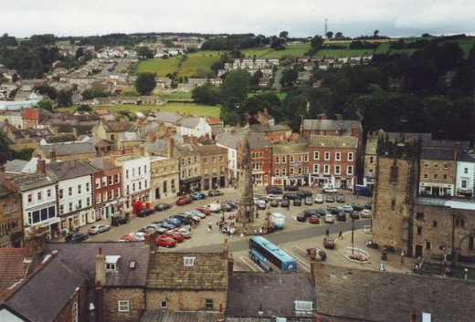 Richmond Market Place from the castle keep - also English Heritage, although like Middleham it's handy to have your membership card ready. Great views in every direction.