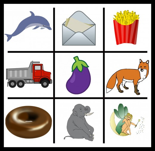 There are so MANY more options for D, E, and F - but we'll leave that up to you! See the credits for clip art, below...