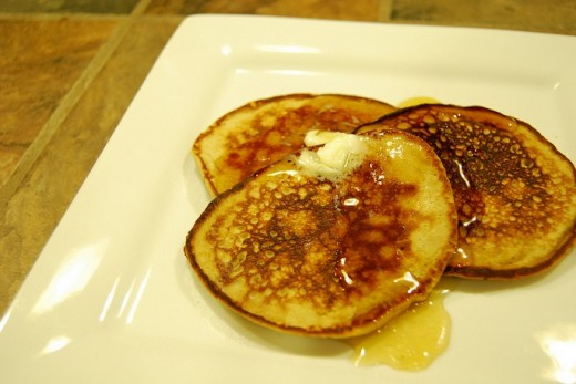 Easy peanut butter banana pancakes--gluten-free (click the link for the recipe)