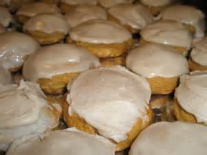 Pumpkin Cookies with Vanilla Frosting