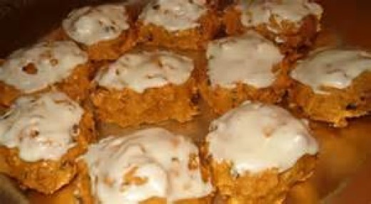 Pumpkins Cookies with Orange Frosting