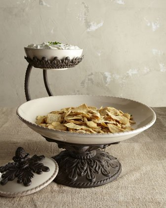 Fancy Chips & Dip Serving Bowl