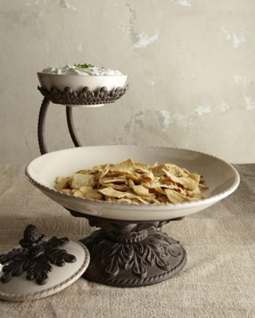 Fancy Chips & Dip Serving Bowl