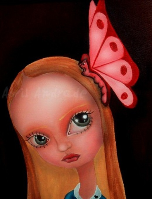 """Alice and Butterfly"" by Abril Andrade Griffith"