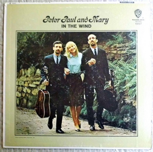 "Peter Paul And Mary's 3rd album, ""In The Wind"""