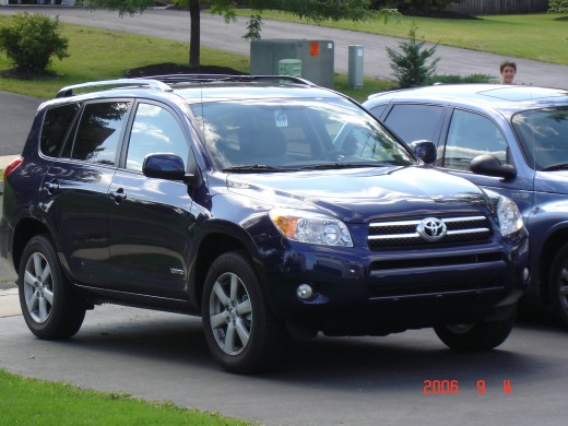 the RAV4 says she likes it sexy and stealth while the Cruiser says he likes to hit the road fast and hard