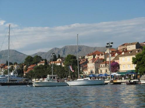 The bay in Dubrovnik.