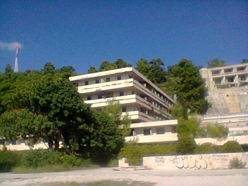 An old hotel from old Yugoslav times.