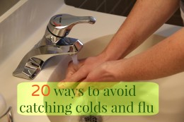 Wash your hands to avoid catching flu