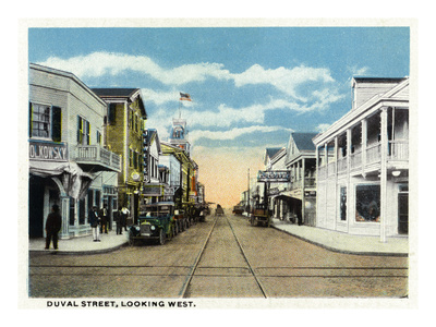 Vintage Street Scene of the southernmost city in the continental U.S. (This print is available at AllPosters.  Click the link for info on sizes, etc.)