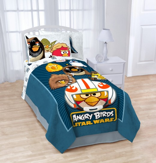 Angry Bird space theme blankets proffer the same highly-visual bedding without paying too much.