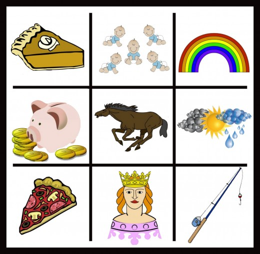 There are so many more! How about quiet, or quip, or quicksilver for Q, or pinwheel, puppy, or punching bag for P? R options - roof, rabbit, rug; the choices are innumerable! Photo credits are below, for the clip art.