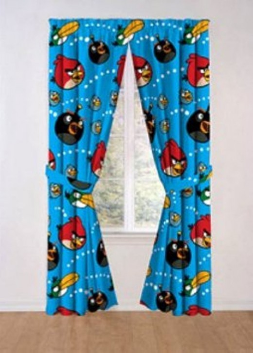 Angry Bird Window Treatment Drapes Panel Curtains