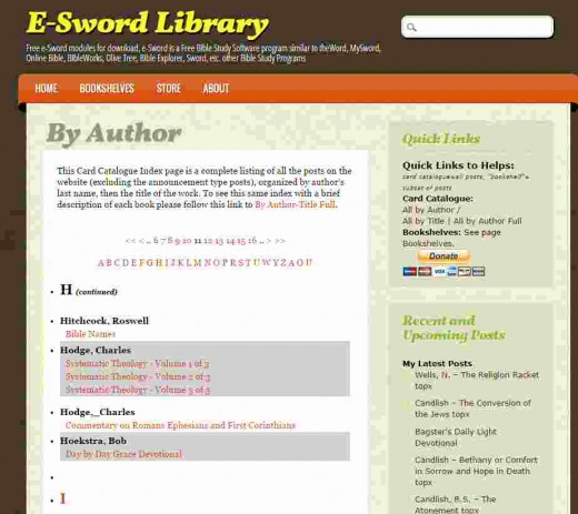 E-swordlibrary.com website