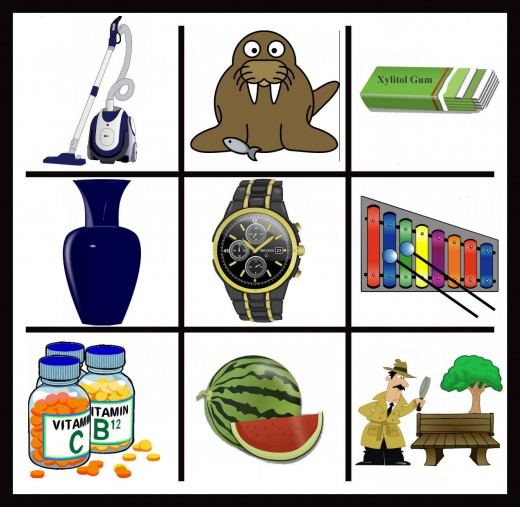 V is easy, so is W, but X will get some effort out of you! Photo credits for clip art is below.