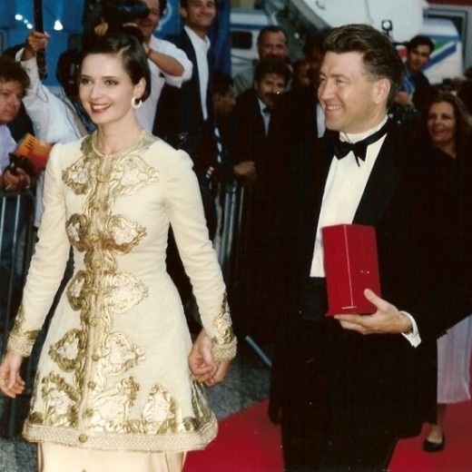Isabella Rossellini and David Lynch at the Cannes Film Festival. Lynch directs and Rossellini star in Blue Velvet.