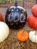 DIY Chalkboard Paint Pumpkins