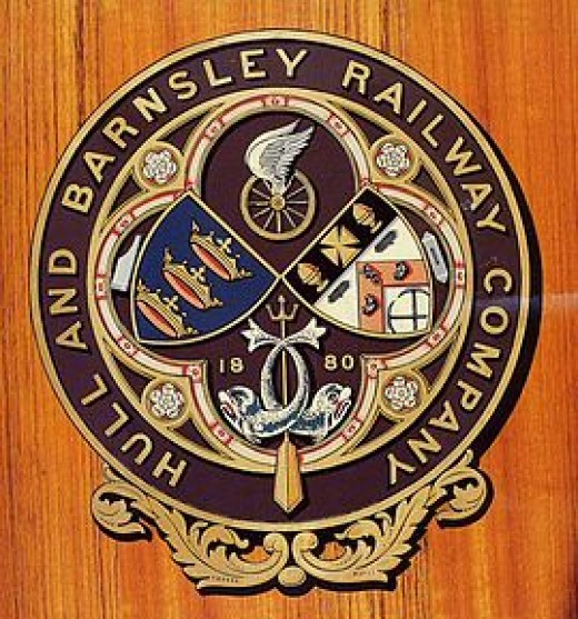 Hull & Barnsley Railway crest on a carriage side