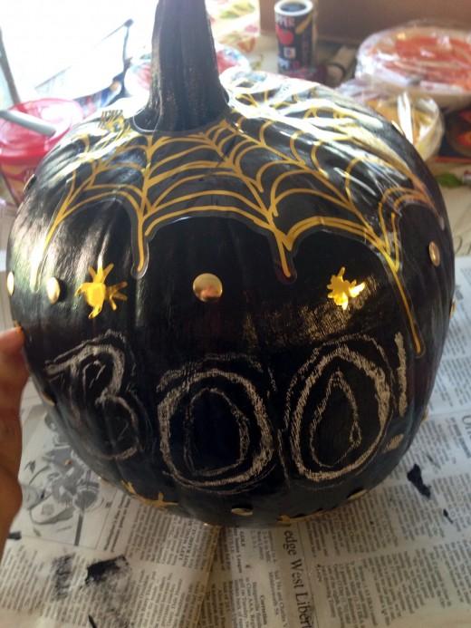 Chalkboard Paint Pumpkins