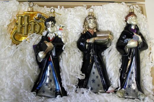 Kurt Adler's Harry Potter Christmas Ornament Set