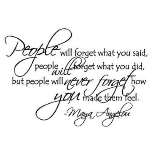 People Will Forget Maya Angelou Quote