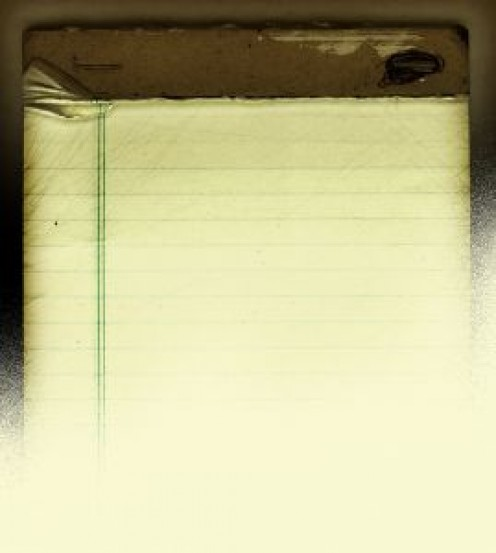 A vintage lined note pad