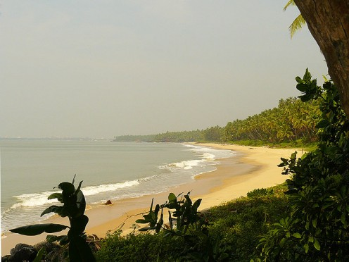 The picture perfect Golden Beach, Nadal, Kannur. The strikingly beautiful  beach with Kannur town as the backdrop. The place is relatively unknown and so has managed to preserve its pristine beauty.