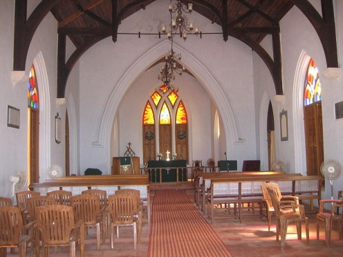 Interior of the Anglican Church, Thalassery