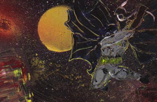 "Here's my painting ""Batman 1938"""