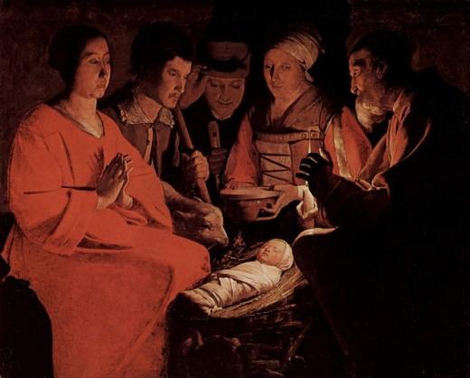 Painting by Georges de la Tour, circa 1645.