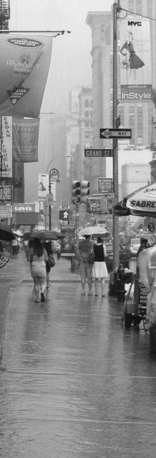 Rain on Broadway, SOHO, New York City