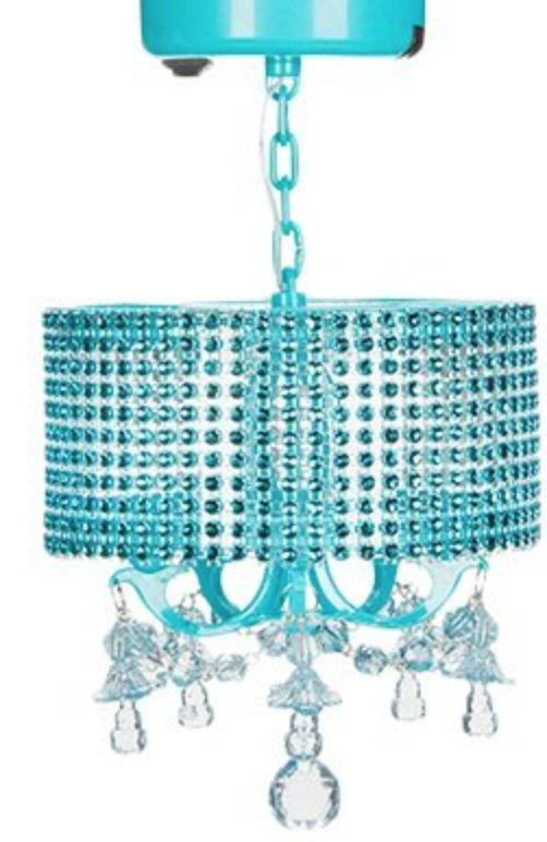 Click the link to the left to see this beautiful teal locker chandelier.