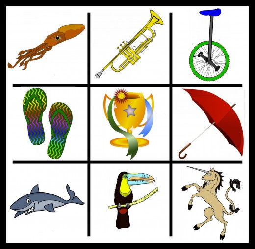 "S and T are easy to do, but you'll find few, when using ""U""! Photo credits for the clip art are all below."
