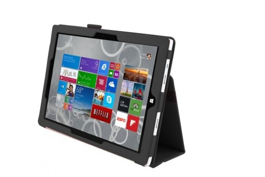 Top-Rated Microsoft Surface Pro 3 Case: The Elsse (TM) Premium Folio is constructed from PU leather and microfiber to guard your device from scrapes and impacts.  The cover has a stylish appearance and won't block access to ports and features.