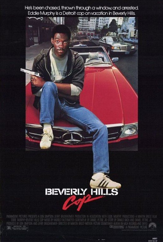 The movie poster for Beverly Hills Cop