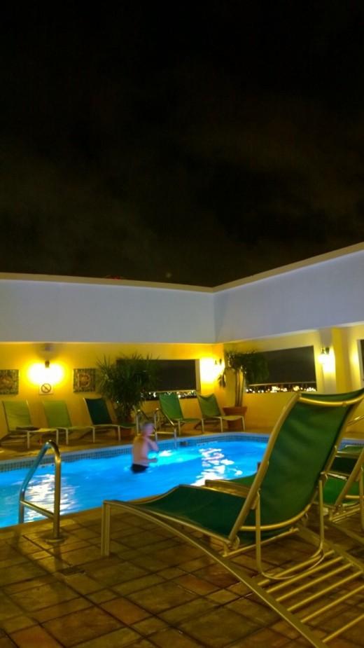 It was a fine night for a swim.