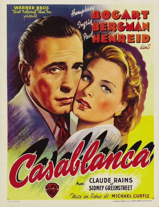 The Movie Poster for Casablanca