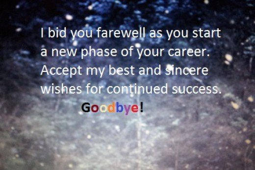 Farewell Message to Colleague Leaving the Company | Holidappy
