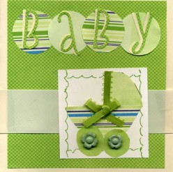 How to Make a Card for a  New Baby