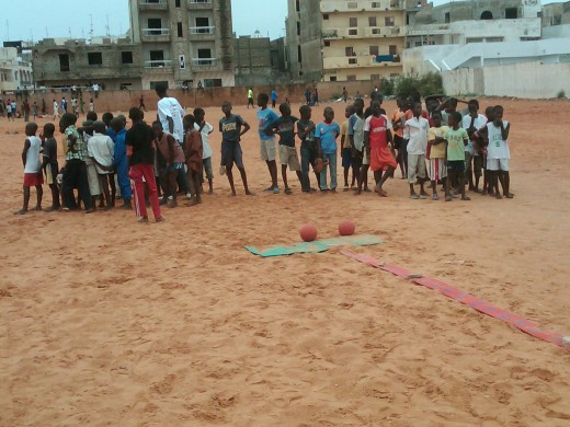 This was a photo from an event the Sama Tata Foundation held a few years ago in Dakar, to help inform beggar children about us but also give them the chance to forget about the struggles in their daily life, by playing a little football.