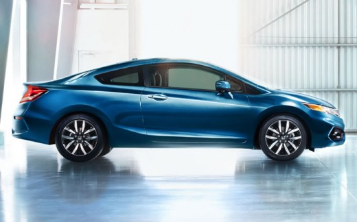 2015 Honda Civic Coupe Light Blue