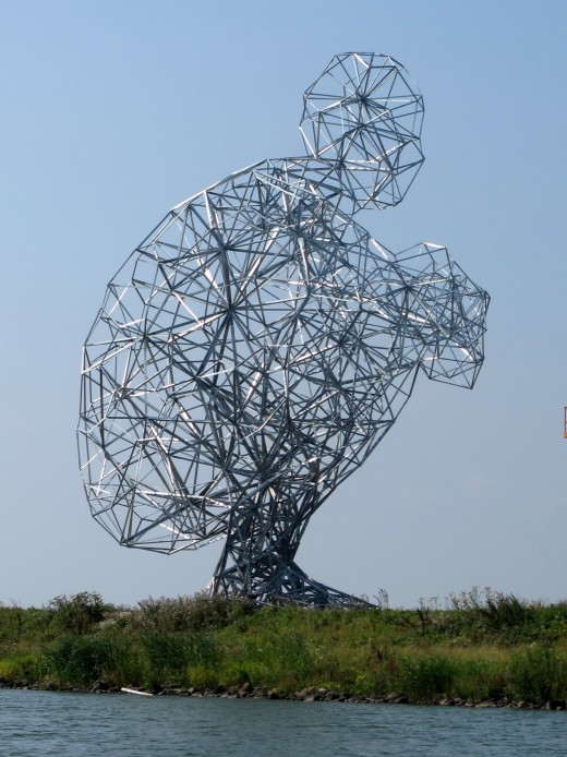 Sculpture Exposure (2010) by Antony Gormley in Lelystad/The Netherlands.